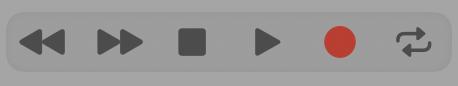 オーディオの操作パネル